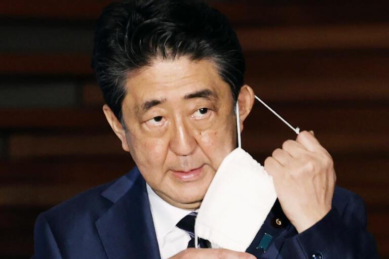 Japans premiärminister Shinzo Abe. Arkivbild.