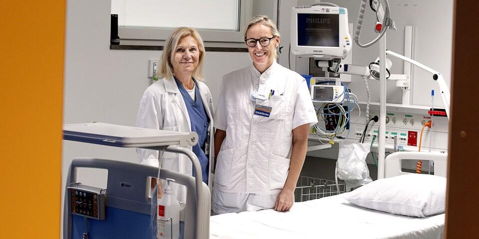 Olga Sashchaya, överläkare i anestesi, har jobbat här i många år medan Malin Lövgren, inhyrd anestesisjuksköterska, börjad ei våras.