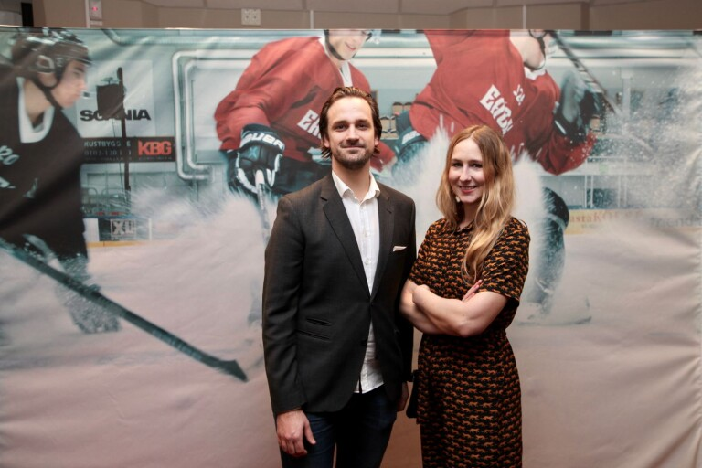 Producenten Stefan H. Lindén och regissören Amanda Adolfsson.