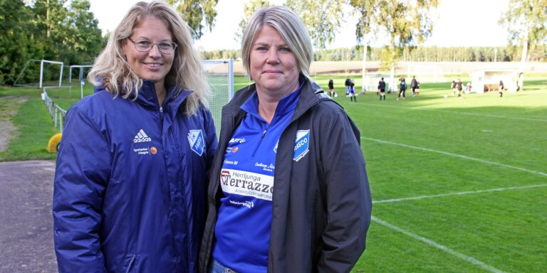 Mariette Hassmer Troije och Anna Knutsson sitter i IK Friscos styrelse. Anna är klubbens ordförande.