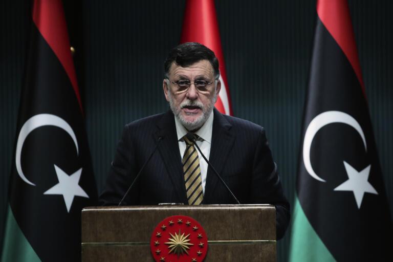Fayez Sarraj, som leder Libyens internationellt erkända regering (GNA). Arkivbild.