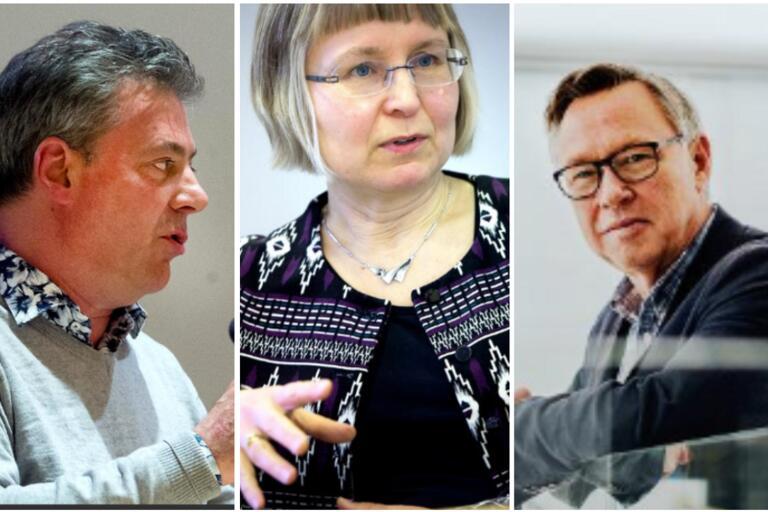 Pierre Månsson (L), Lena Holst (C) och Anders Tell (S) utgör dagens majoritetsstyre. Ett nytt styre kommer att bli resultatet av söndagens val.