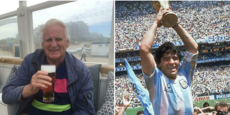 Beddingebon som fick en kram av Maradona