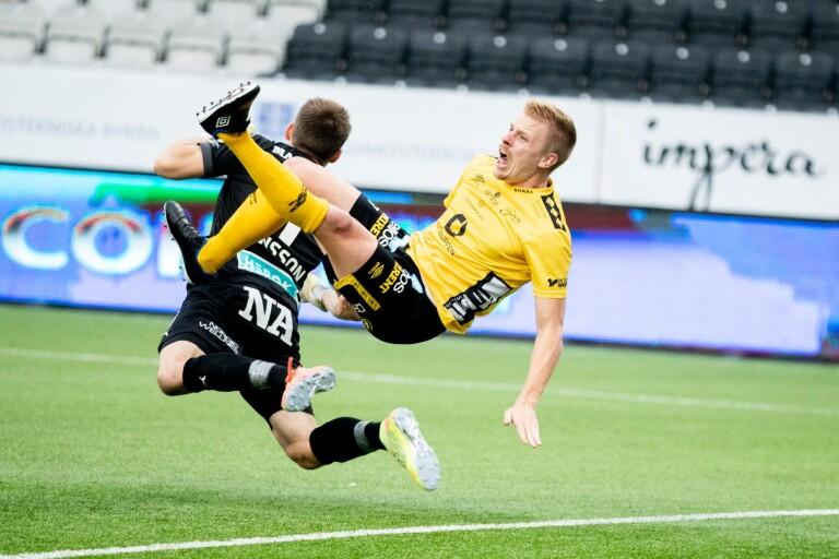 Per Frick i kollisionen med Jansson.