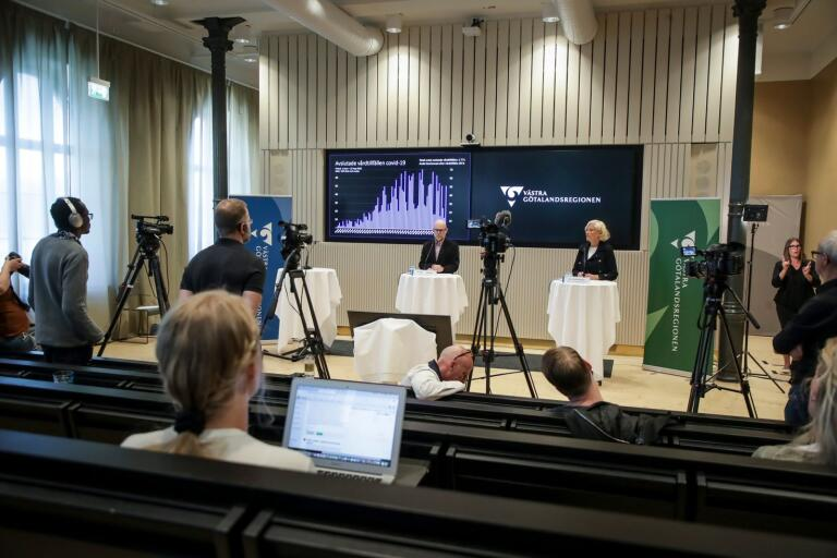 LIVE-TV: Se regionens presskonferens om coronaläget