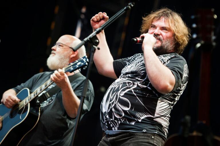 Tenacious D, bestående av Kyle Gass och Jack Black, spelade på Sweden Rock under torsdagen.