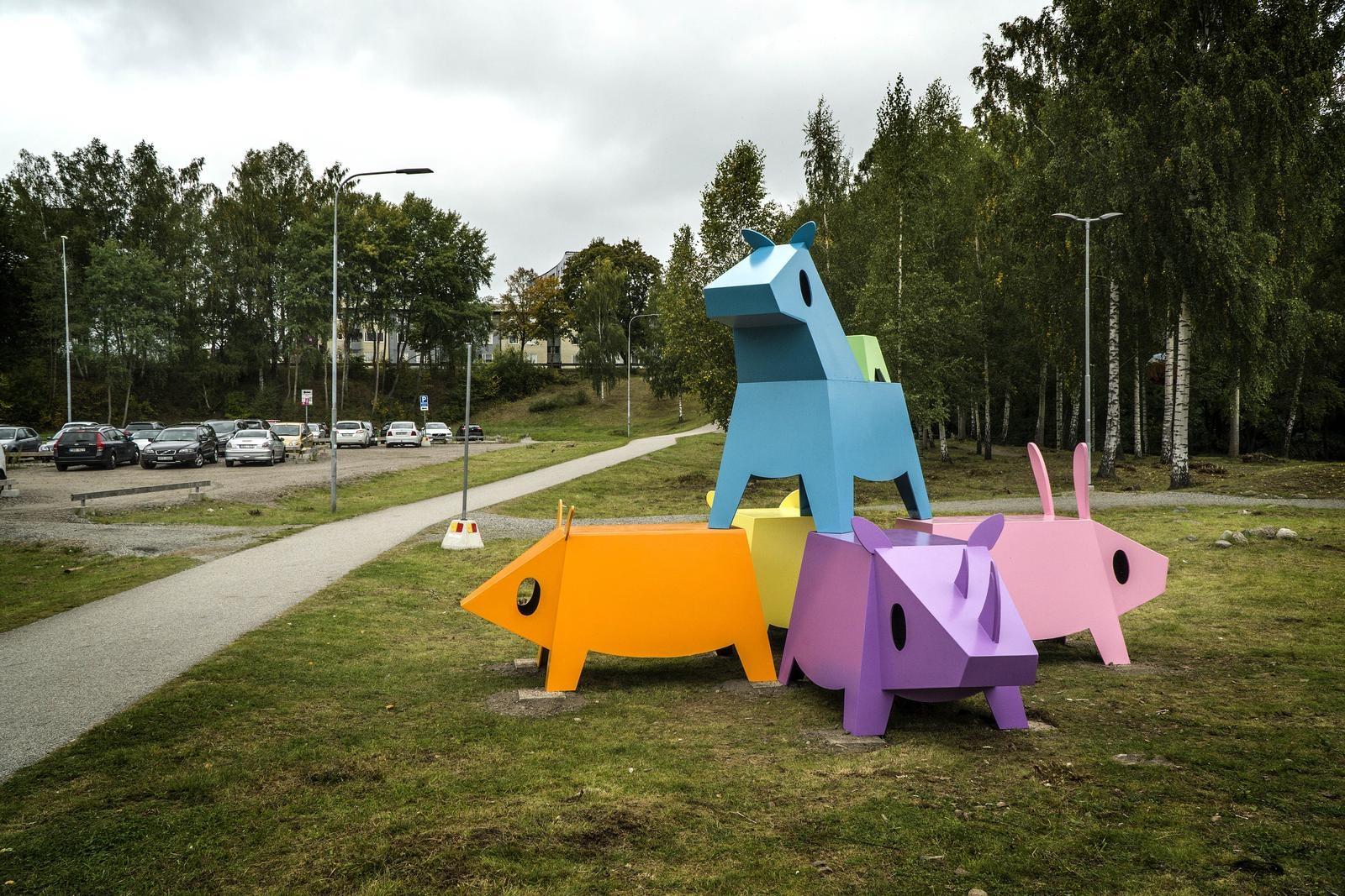 Installation av Tim Timmey på Magasinsgatan 8.