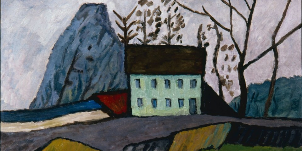 """Gabriele Münter: """"Haus in Schwabing"""" (1911)"""