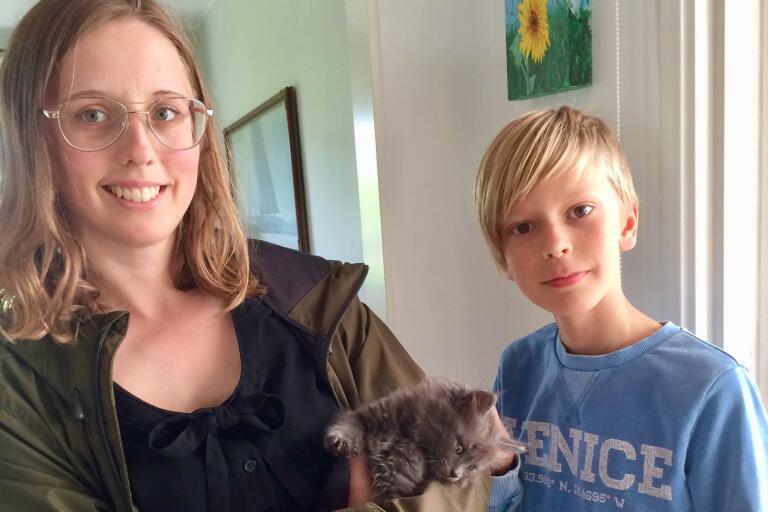 Walter, 11 år, har tagit hand om Grålle, som varit på rymmen, och dök upp i Lyckeby. Under onsdagen kunde Grålle lämnas tillbaka till sin ägare, en familj i Mörrum.