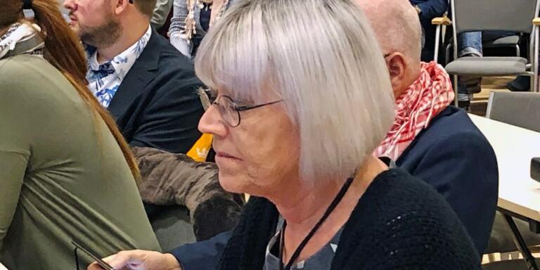 Karin Jageby, gruppledare i Vänsterpartiet.