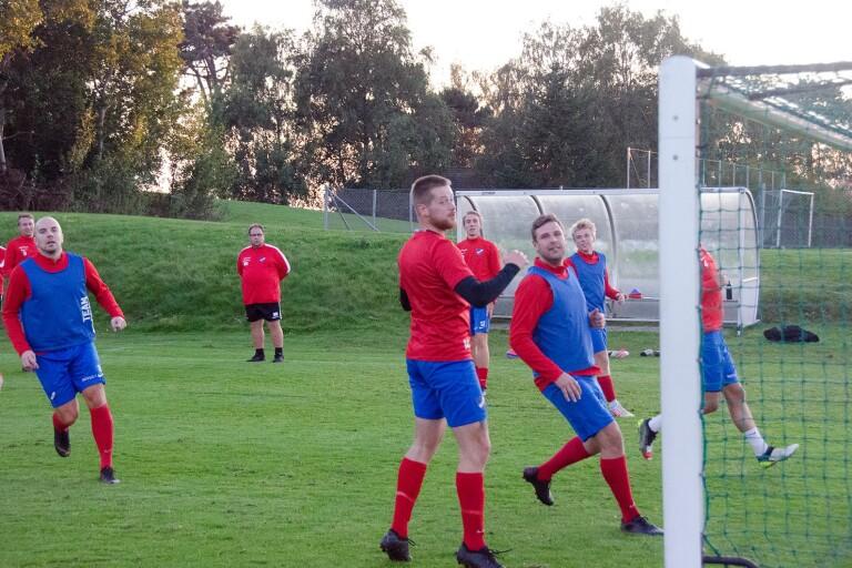 IFK Ystad på en träning tidigare i veckan.