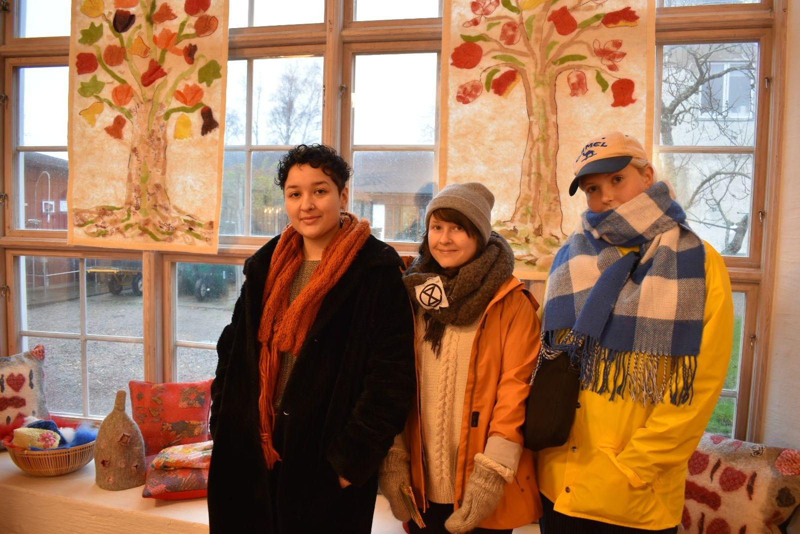 Lasmi Belmar, Sofie Andersson och Norah Lång.
