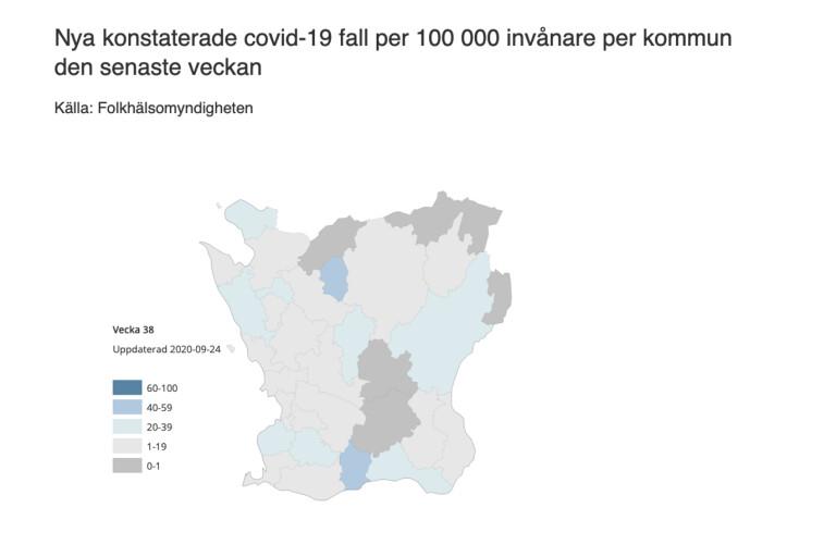 Betydligt fler smittade i Kristianstad – så ser det ut i din kommun