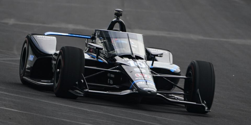 Felix Rosenqvist på Indianapolis Motor Speedway i Indianapolis, den 12 augusti.