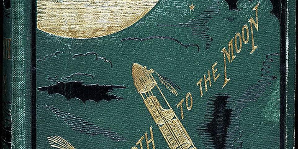 """Jules Vernes """"Från jorden till månen"""" skrevs redan 1865. Pressbild."""