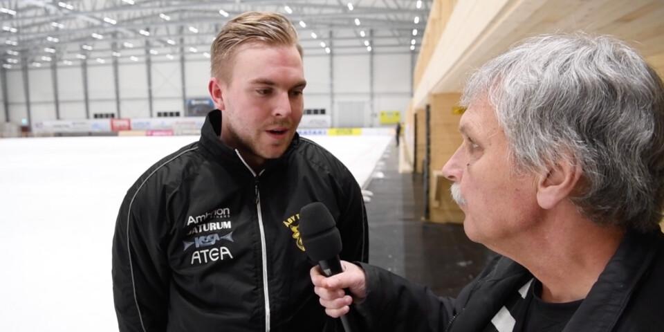 Filip Fransson blev tremålsskytt för Åby/Tjureda.