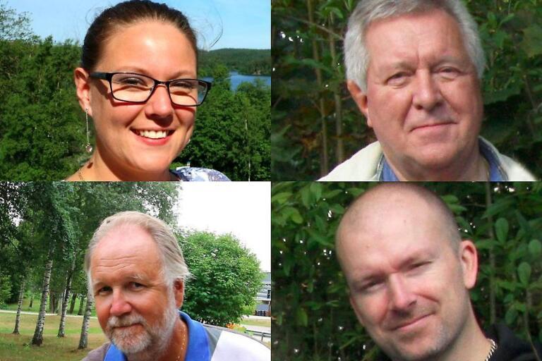 Sandra Eliasson (C), Sverre Fredriksson (M), Michael Plogell (FR) och Patrik Karlsson (KD).