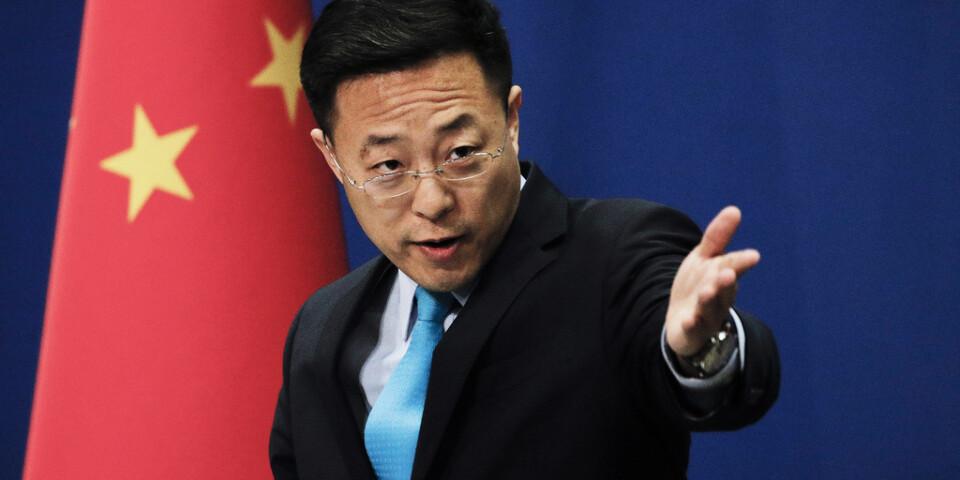 Utrikesdepartementets talesperson Zhao Lijian har gjort sig känd för sina verbala angrepp på kritiker på Twitter. Arkivbild.