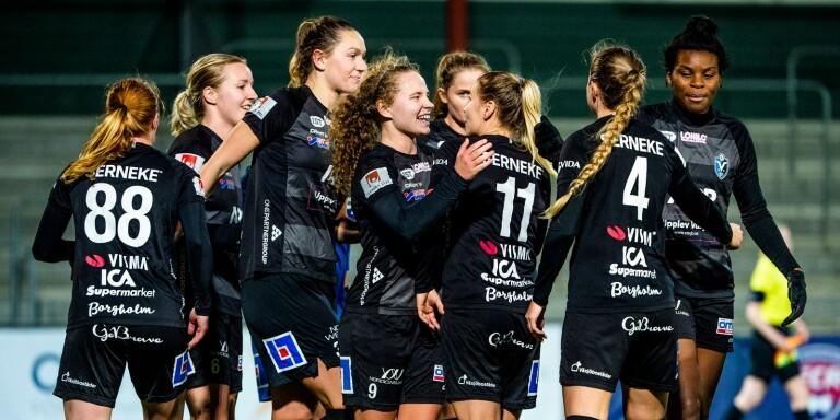 Ett historiskt bra Växjö DFF vann mot Rosengård