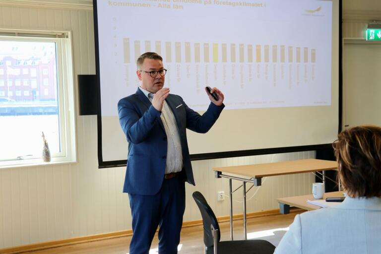 Johnny Rönnfjord från Svenskt näringsliv presenterade resultatet vid ett möte på Badholmen i Oskarshamn under tisdagen.