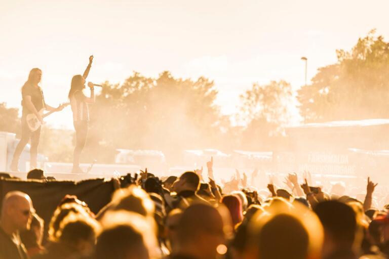 Svenska heavy metal-bandet Hammerfall uppträdde på Sweden Rock-festivalen 2019.