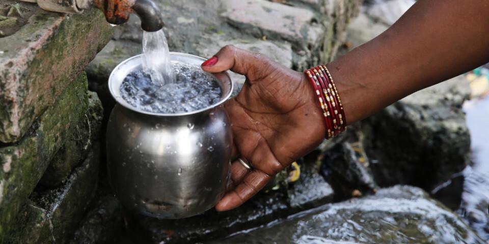 Över 700 miljoner människor saknar tillgång till rent dricksvatten. Arkivbild.