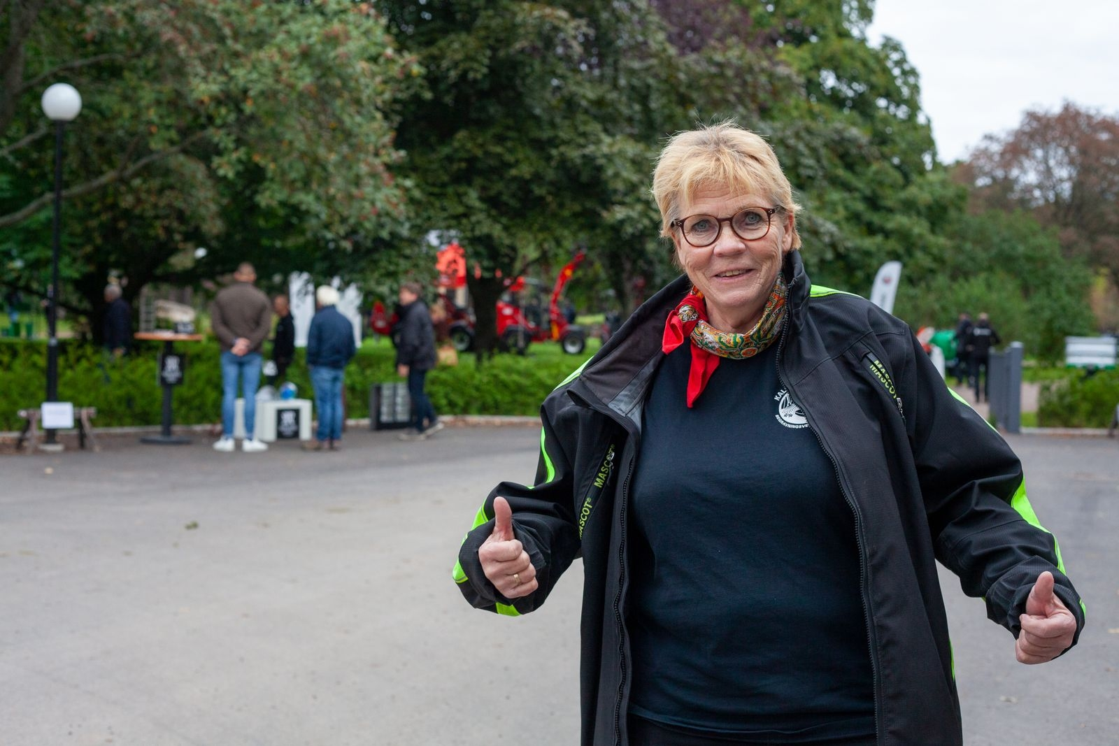 Birgitta Linåker var oerhört nöjd över att äntligen få träffa branschfolk och kollegor igen.