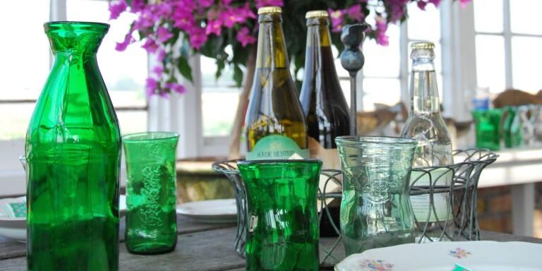 Ny design av återvunnet glas