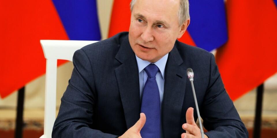 Rysslands president Vladimir Putin vid ett möte den 29 november. Arkivbild.