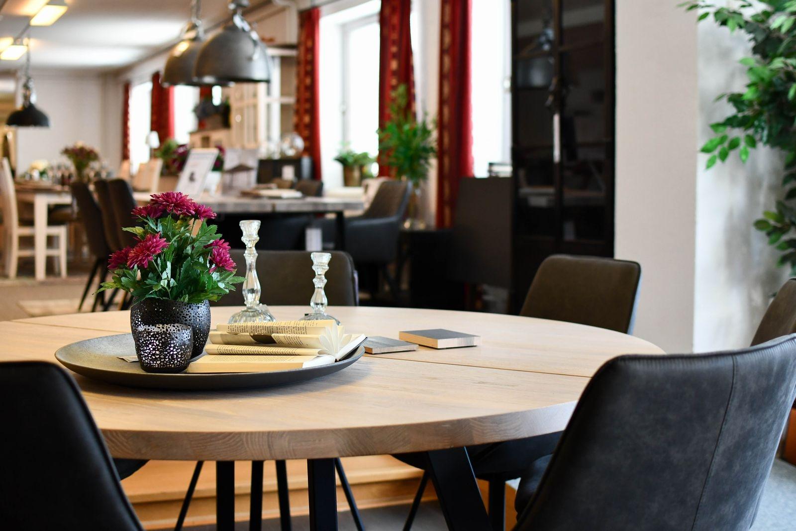 Utbudet av, och efterfrågan på, runda matbord har blivit stort.