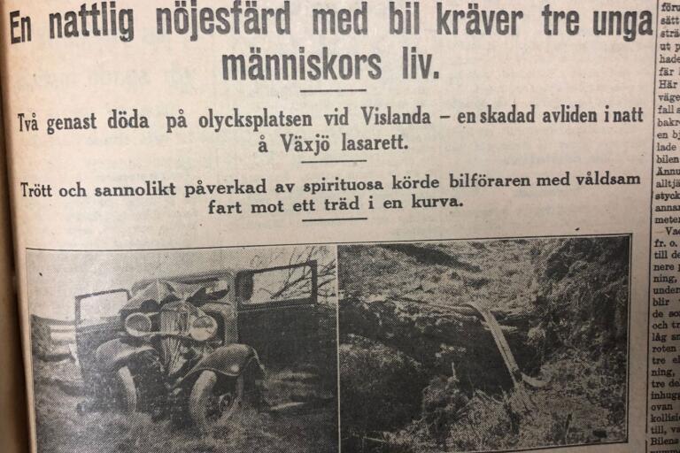 Smålandsposten 19 april 1934.