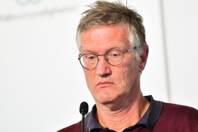 Anders Tegnell, statsepidemiolog Folkhälsomyndigheten, ser nu att fler åtgärder hade behövts för att stoppa smittan. Arkivbild.