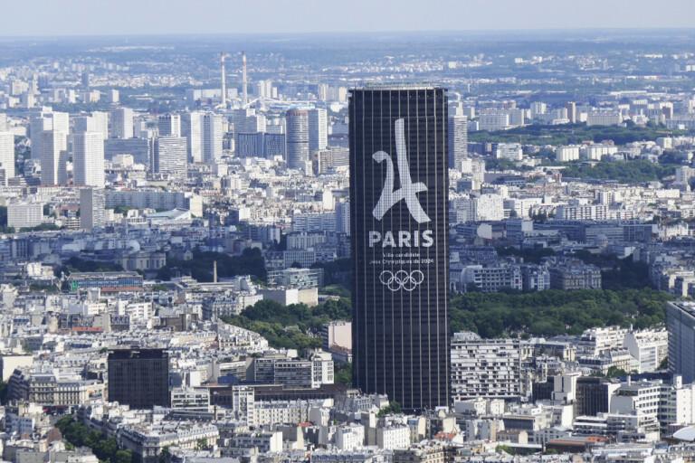 Montparnassetornet i Paris. Arkivbild.