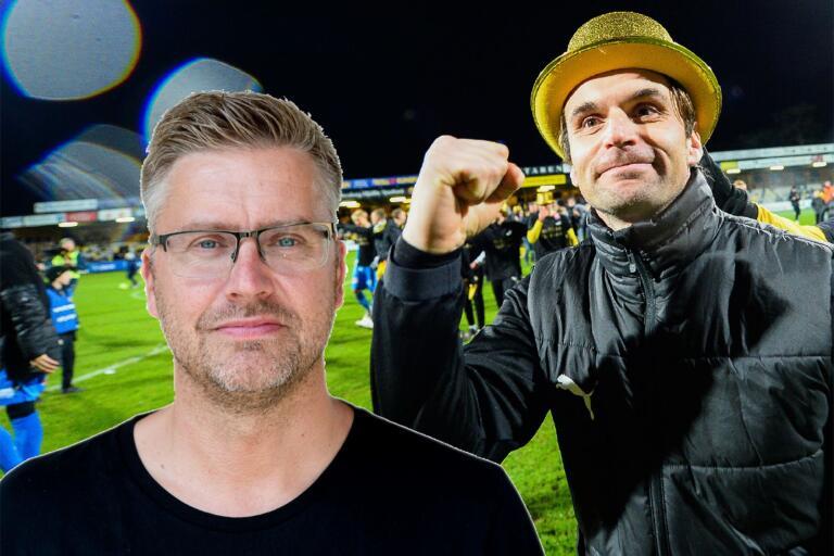 Milos Milojevic satt med en bra hand och gick all in. Men Mjällby vägrade att spela samma höga spel.