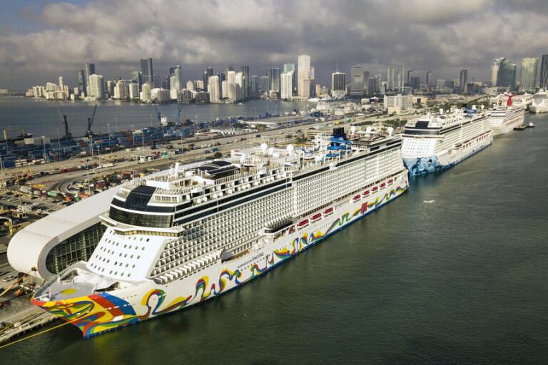 Den 26 mars i år låg det stora kryssningsfartyget Norwegian Encore i hamnen i Miami, Florida. Nu har den tomma lyxkryssaren seglat till Göteborg.