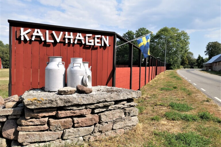 Konst och husbilar i Kalvhagen