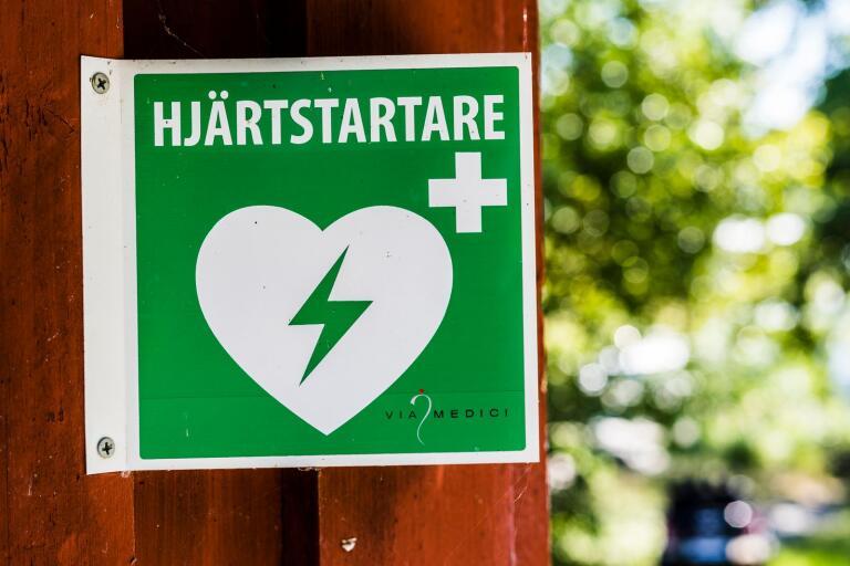 Hjärtstartaren i Hemsjö är tillfälligt bortplockad. Bilden är en arkivbild och visar inte den aktuella enheten.
