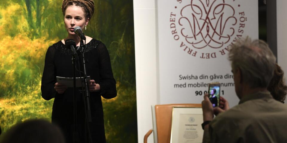 Amanda Lind delade ut Svenska Pen-klubbens Tucholskypris.
