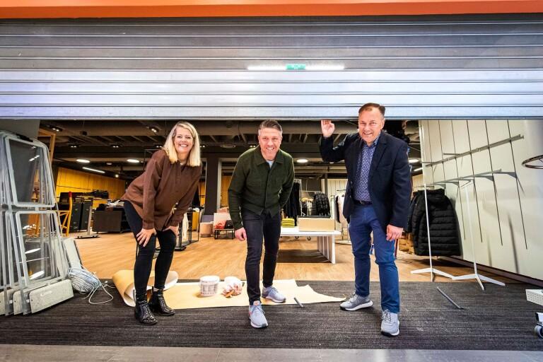 Anna Stridsjö, centrumledare på Modehuset Kronan, Jonas Hellström delägare i nystartade Another store och Martin Strandberg, förvaltningschef på Kronan.