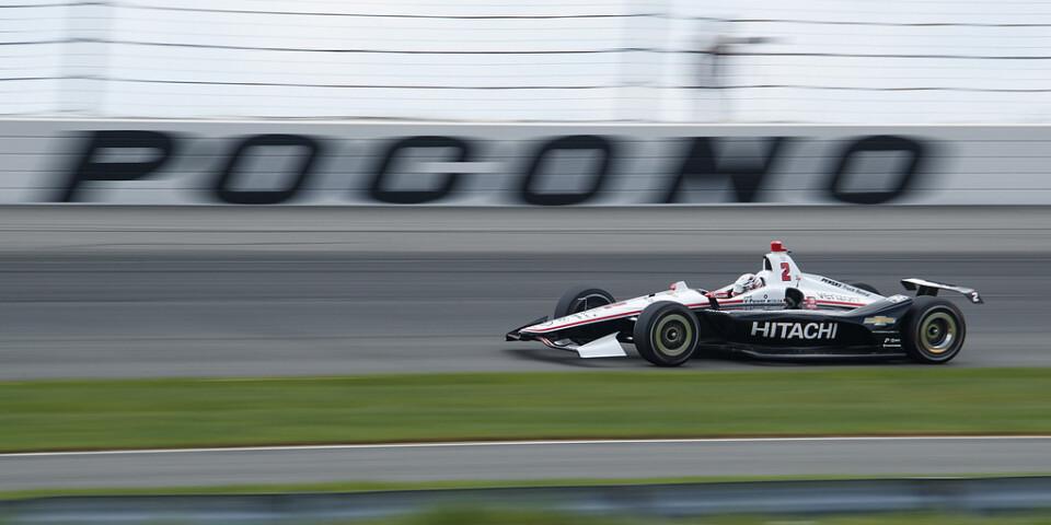 Racet i Pennsylvania blev kortare än tänkt, på grund av dåligt väder.