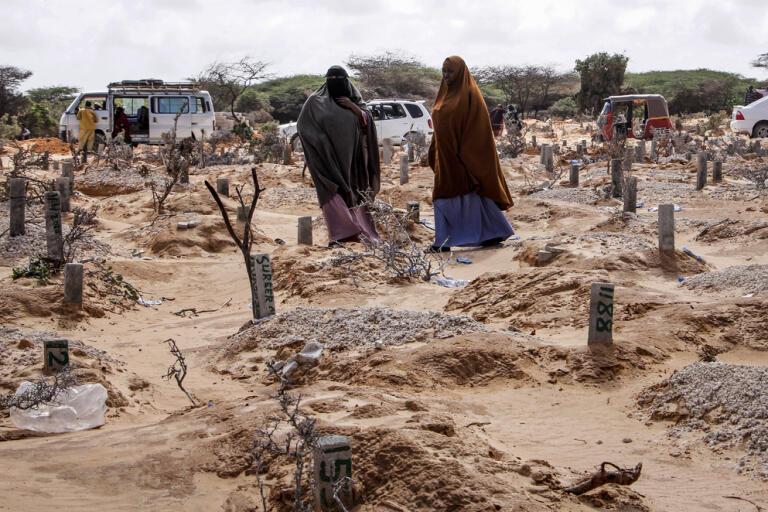 Åratal av konflikt, instabilitet och fattigdom har gjort att Somalia inte står särskilt väl rustat inför kriser som utbrottet av coronavirus. Bilden är tagen på en kyrkogård i Mogadishu.