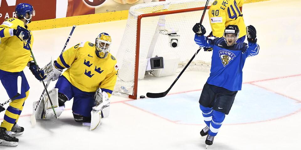 Sverige har gjort ett dåligt landslagsår, medan Finland gjort succé, konstaterar Ishockeyförbundets ordförande Anders Larsson. Arkivbild.