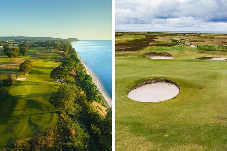 Elva sköna golfhål längs Sydkusten