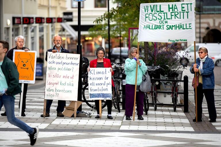 Global klimatstrejk i Oskarshamn