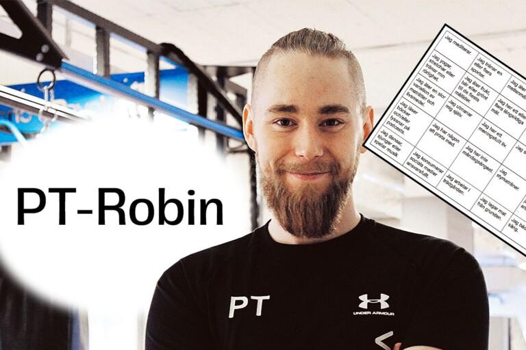 Spela hälsobingo med PT-Robin