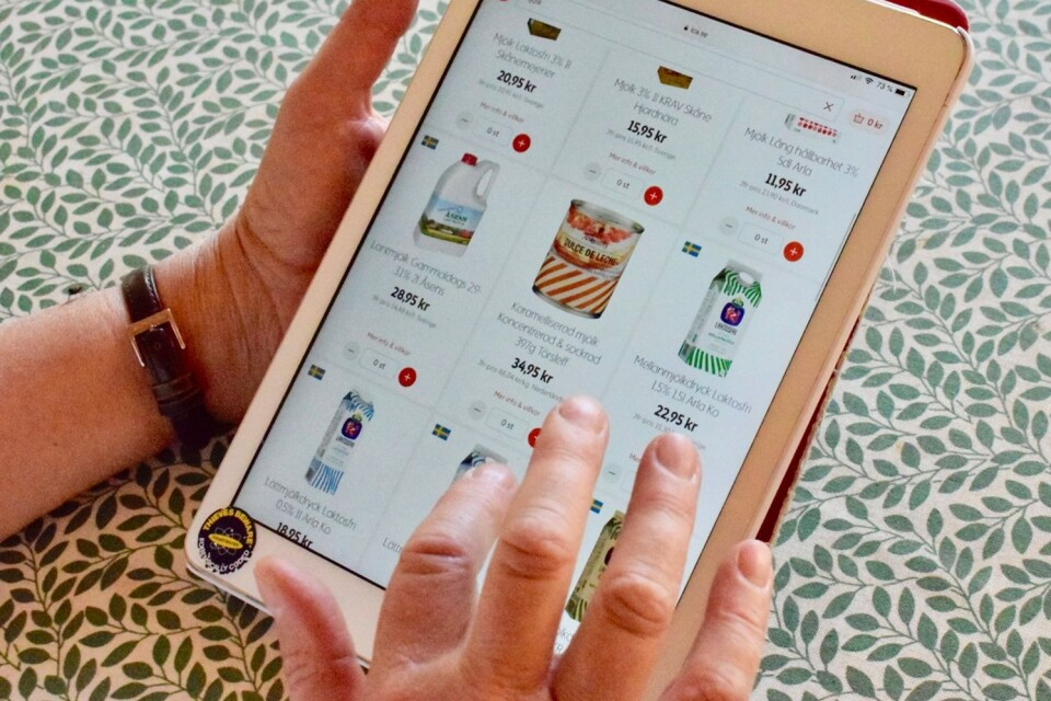 The online ordering service is available in several shops.