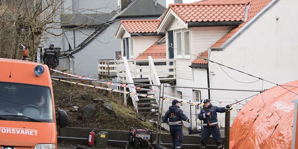 Boendet i Bergen där morden tros ha ägt rum. Arkivbild.