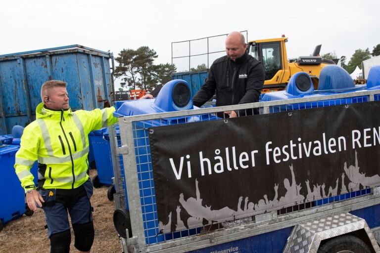 De återvinner skräpet från festivalen