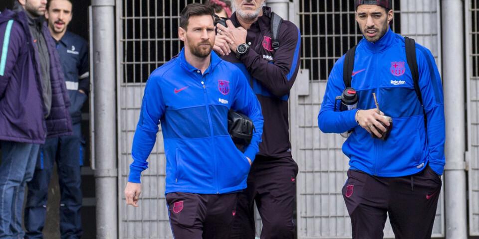 Luis Suarez och Lionel Messi. Arkivbild.