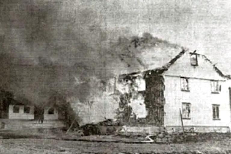 Tillbakablick: Storbrand i Björketorp – gård totalförstördes